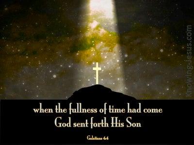 Galatians 4:4 God Sent Forth His Son (black)