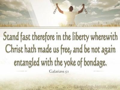 Galatians 5:1 Stand Fast (cream)