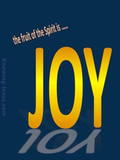Galatians 5:22 Fruit Of The Spirit Is Joy (yellow)