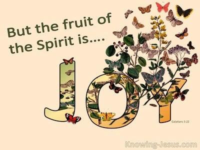 Galatians 5:22 The Fruit Of The Spirit Is Joy (orange)