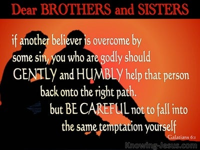 Galatians 6:1 Restore Such A One (red)