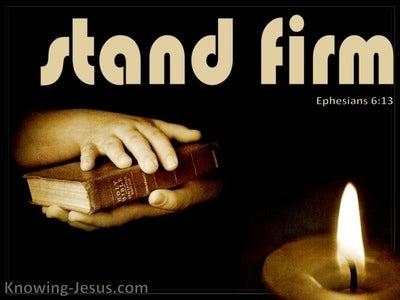 Ephesians 6:13 Put On The Full Armour Of God (beige)