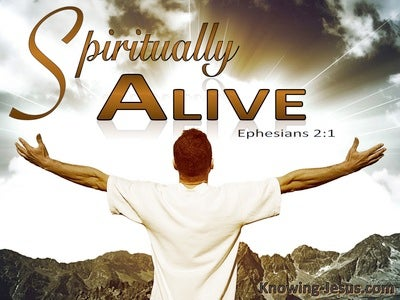 Ephesians 2:1 And You He Made Alive (white)