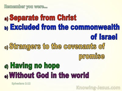 Ephesians 2:12 Remember You were Excluded From The Commonwealh Of Israel (beige)