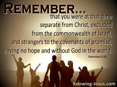 Ephesians 2:12 Remember You were Excluded From The Commonwealh Of Israel (brown)