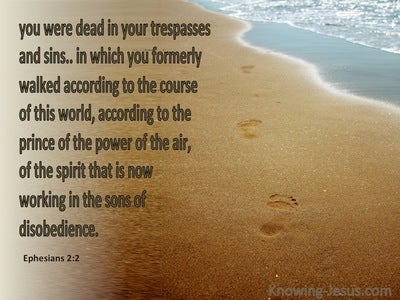 Ephesians 2:2 Sons Of Disobedience (brown)