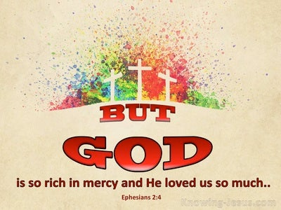 Ephesians 2:4 Rich In Mercy (beige)