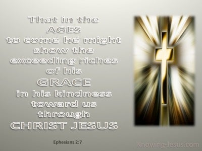 Ephesians 2:7 Riches Of His Grace (gold)
