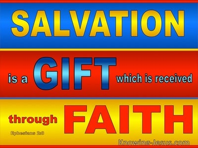 Ephesians 2:8 Salvation By Grace Throgh Faith (blue)