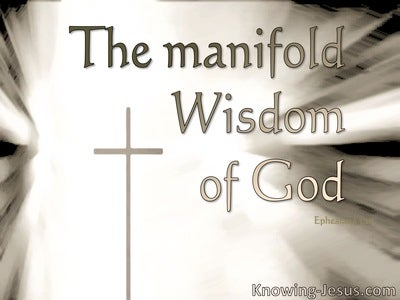 Ephesians 3:10  The Manifold Wisdom Of God (brown)