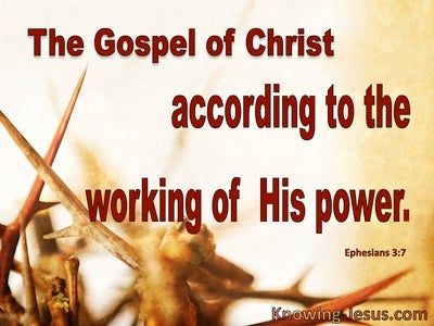 Ephesians 3:7 The Gospel Of Christ According To His Power (yellow)