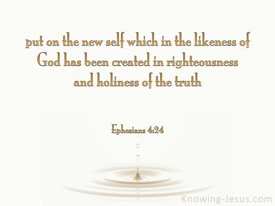 Ephesians 4:24 Put On The New Self (gold)