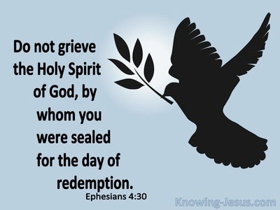 Ephesians 4:30 Do Not Grieve the Spirit (blue)