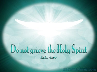 Ephesians 4:30 Do Not Grieve The Spirit (white)