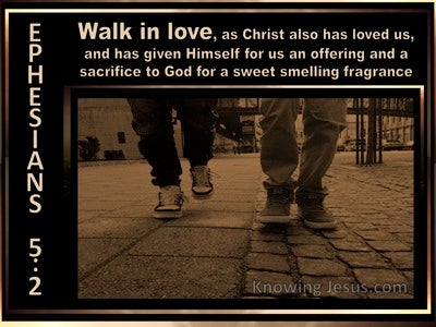 Ephesians 5:2 Walk In Love (brown)