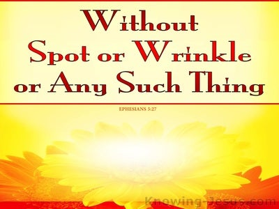 Ephesians 5:27 Without Spot Or Wrinkle (yellow)