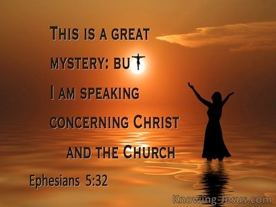 Ephesians 5:32 This Is A Great Mystery Which Speaks Of Christ And The Church (orange)