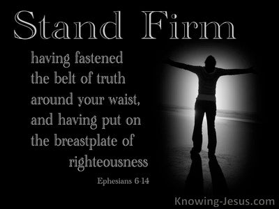 Ephesians 6:14 The Belt Of Truth And Breastplate Of Righteousness (gray)