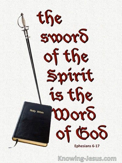 Ephesians 6:17 The Sword Of The Spirit Is The Word Of God (red)