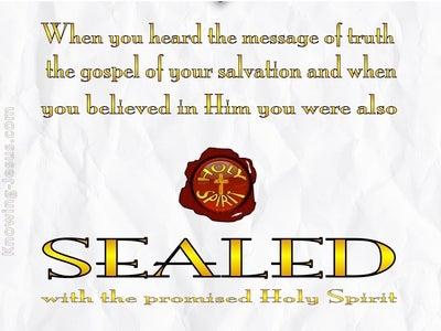 Ephesians 1:13 Sealed With The Holy Spirit (gray)