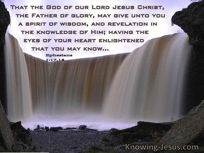 Ephesians 1:17,18 May God Give Unto You The Spirit Of Wisdom And Revelation (windows)08:05
