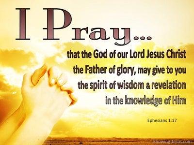 Ephesians 1:17 Spirit of Wisdom And Revelation (yellow)