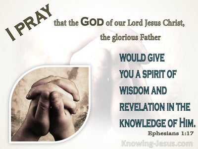 Ephesians 1:17 The God Of Our Lord Jesus Christ, The Father Of Glory (beige)
