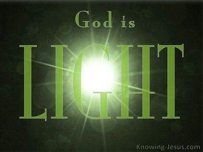 Ephesians 1:18 God Is Light (green)