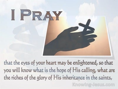 Ephesians 1:18 The Hope Of His Calling (white)