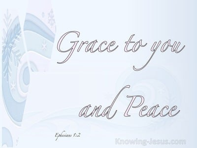 Ephesians 1:2 Grace Be To You And Peace (pink)