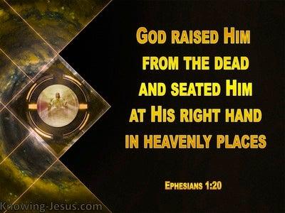 Ephesians 1:20 God Raised Him From The Dead (black)