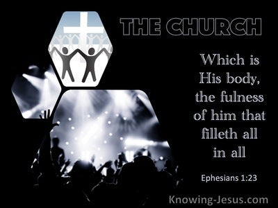 Ephesians 1:23 His Body, The Fulness Of Him That Filleth All In All (black)