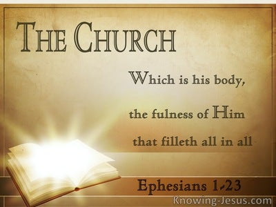 Ephesians 1:23 His Body, The Fulness Of Him (brown)