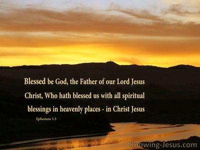 Ephesians 1:3 Our Superlative God (devotional) (gold)