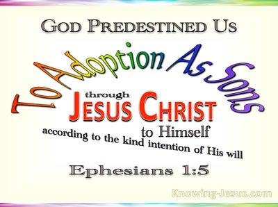 Ephesians 1:5 God Predestined Us To Adoption As Sons (yellow)