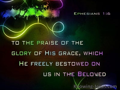 Ephesians 1:6 Wherein He Hath Made Us Accepted In The Beloved (navy)