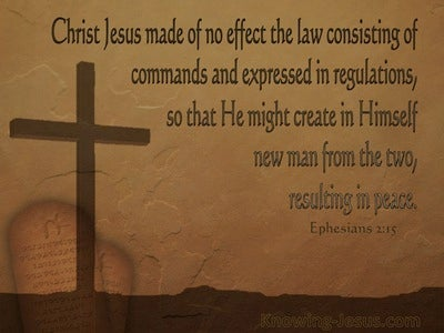 Ephesians 2:15 He Made The Law Of No Effect (brown)