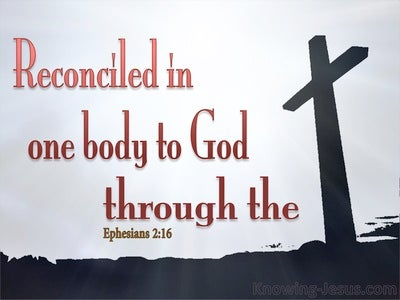 Ephesians 2:16 He Reconciled Both Into One Body (red)