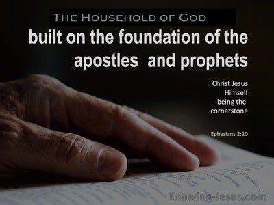 Ephesians 2:20 Built On The Foundation Of The Apostles And rophets (black)