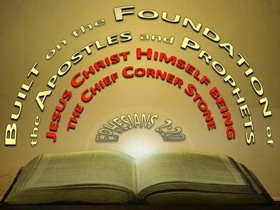 Ephesians 2:20 Jesus Christ The Chief Corner Stone (gold)
