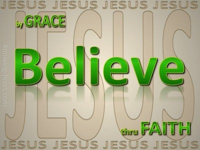 Ephesians 2:8 By Grace Through Faith (green)