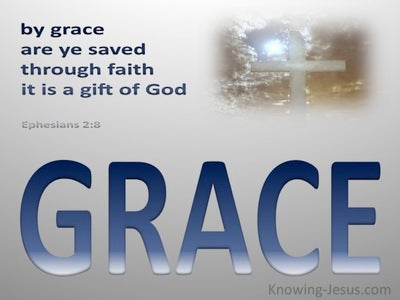 Ephesians 2:8 Saved by Grace (blue)