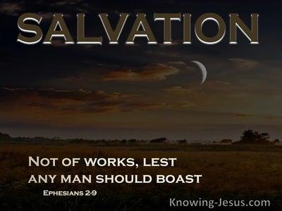 Ephesians 2:9 Not Of Works, Lest Any Man Should Boast (black)
