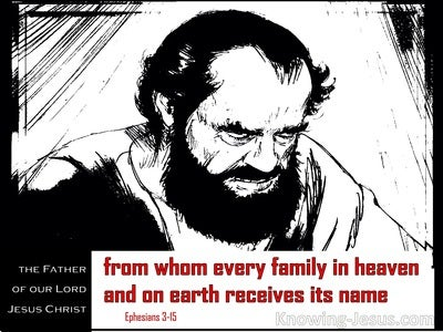 Ephesians 3:15 From Whom Every Family Receives Its Name (red)