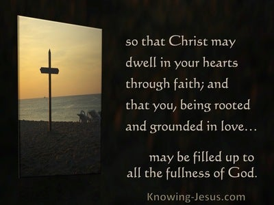 Ephesians 3:17,19 Rooted Deep In Love And Founded Securely On Love (brown)