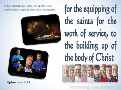 Ephesians 4:12 For The Equipping Of The Saints For The Work Of Service (blue)