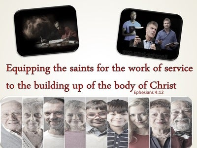 Ephesians 4:12 For The Equipping Of The Saints For The Work Of Service (red)