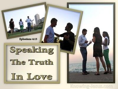 Ephesians 4:15 Speaking The Truth In Love (beige)
