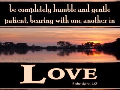 Ephesians 4:2 Live In Humility, Gentleness, Patience (orange)