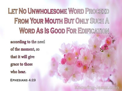 Ephesians 4:29 Let Your Words Speak Grace (pink)